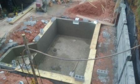 Onde Encontro Construção Piscina Revestida Vinil Perus - Construção de Piscina de Alvenaria