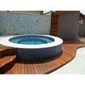 piscinas com deck de madeira São Vicente