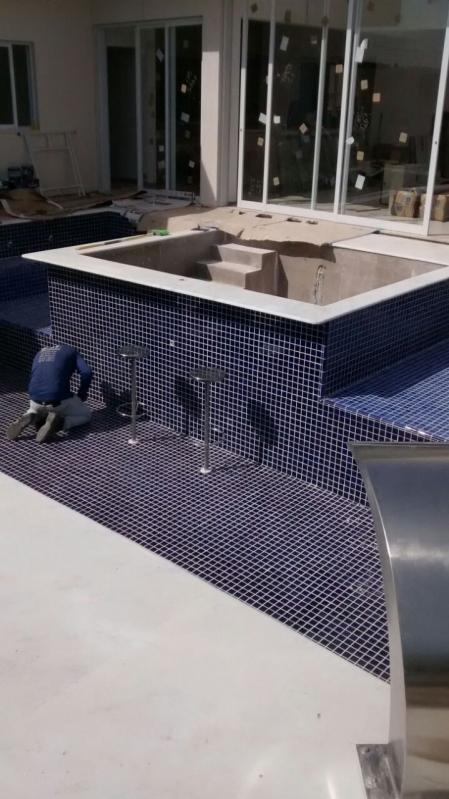 Construção de Piscinas Azulejo Taboão da Serra - Construção de Piscina Fibra