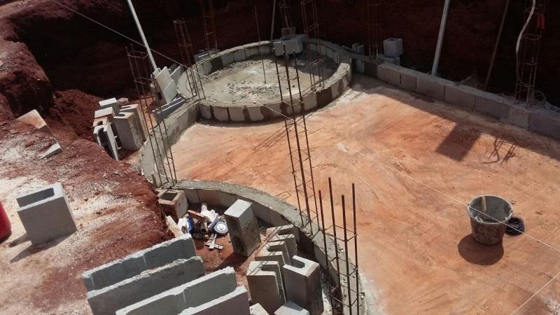 Construção Piscinas Revestidas Vinil Santos - Construção de Piscina de Alvenaria