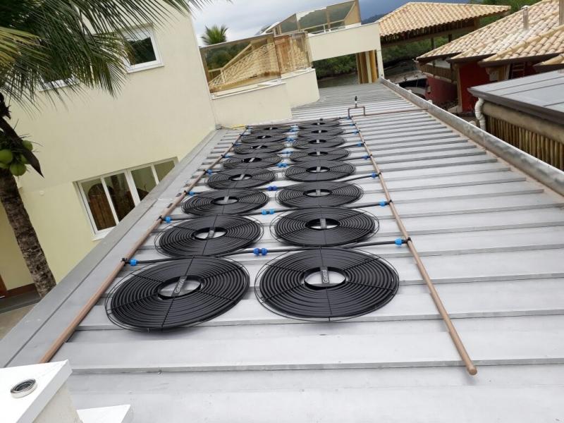 Sistema de Aquecimento Solar para Piscina Jardim das Acácias - Aquecimento Solar de Piscina