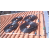 aquecimento solar para piscina de fibra Chora Menino