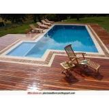 assistência técnica piscinas com deck de madeira Cantareira