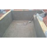construção piscina azulejo Ilha Comprida