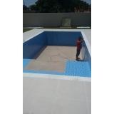 construção piscina revestida vinil Caieiras