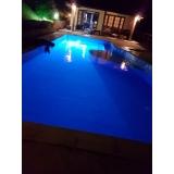 iluminação para piscina de fibra