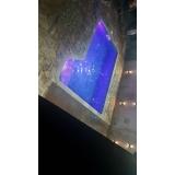 iluminação piscina com leds