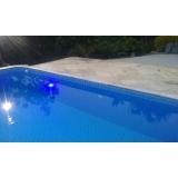 iluminação piscina com leds preço Campinas