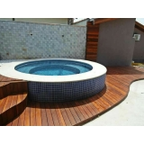 piscinas com deck de madeira Casa Verde