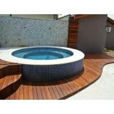 piscinas com deck Vila Dalila