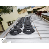 placa de aquecimento solar para piscina Casa Verde