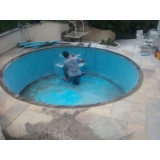 reforma de piscina pequena Sé